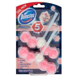 Domestos Pink Magnolia DUO Kostka WC Power 5 koszyk 2 x 55 g