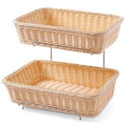 Koszyki do pieczywa prostokątne wzmocnione   2szt. Ze stelażem