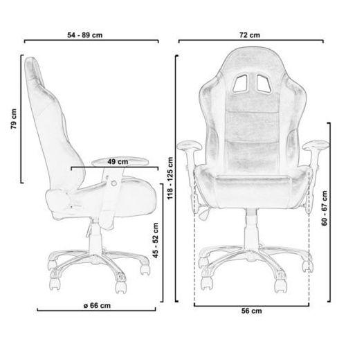 Fotele dla graczy, BIAŁY SPORTOWY FOTEL BIUROWY GABINETOWY DLA GRACZA - Biały 2390 (-35%)