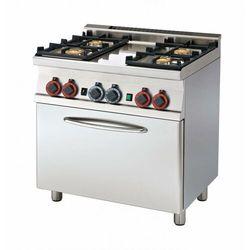 Kuchnia gazowa z piekarnikiem | GN 1/1 | 18920W | 800x600x(H)900mm