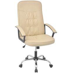 vidaXL vidalXL Krzesło biurowe Sztuczna skóra 67x70 cm Kremowe Darmowa wysyłka i zwroty