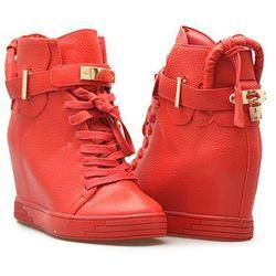 Sneakersy Sergio leone 28788 Czerwone lico