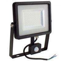 Naświetlacze zewnętrzne, Naświetlacz Halogen Reflektor 50W V-TAC LED z czujnikiem