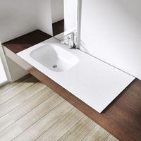 Umywalki, Umywalka naszafkowa asymetryczna z blatem konglomerat Swiss Liniger Lng04 100x48 cm