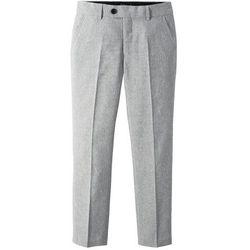 Spodnie garniturowe bonprix szary melanż
