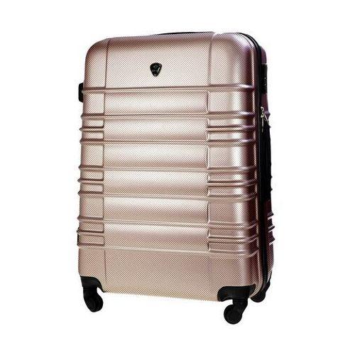 Torby i walizki, Walizka podróżna twarda duża l stl838 champagne