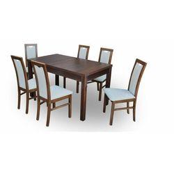 """Zestaw """"DIVA"""" stół + 6 krzeseł - pastelowa zieleń"""