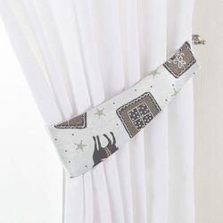 Dekoria Podwiązka Victoria, szaro-beżowe renifery na jasnym tle, 12 x 70 cm, Wyprzedaż do -30%