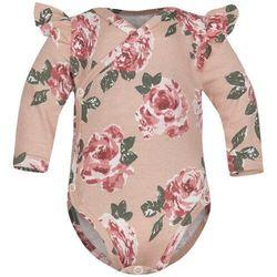 Body kopertowe niemowlęce z długim rękawem Róże Fluid - Dolce Sonno