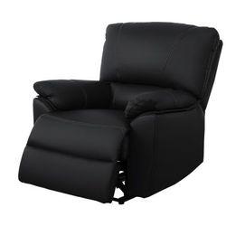 Skórzany fotel z regulowaną elektrycznie funkcją relaks MARCIS - Czarny