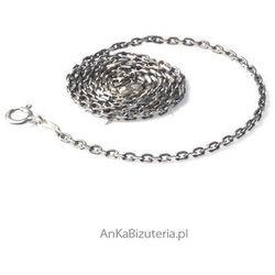 ankabizuteria.pl łańcuszek anker diamentowany oksydowany 0,6