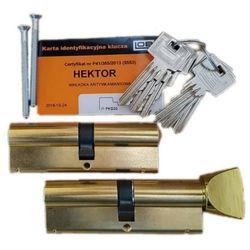 Komplet wkładek atestowanych HEKTOR 4 kl. zabezpieczenia LOB 45/50mm w systemie jednego klucza