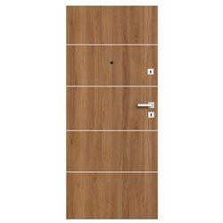 Drzwi zewnętrzne drewniane Dominos Alu 80 lewe dąb Bergen