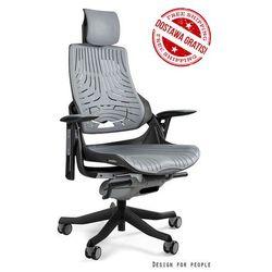 Fotel ergonomiczny czarny WAU Elastomer - Szary - ZŁAP RABAT: KOD150