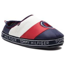 Kapcie TOMMY HILFIGER - Mountain Patch Downslipper FM0FM02005 Rwb 020