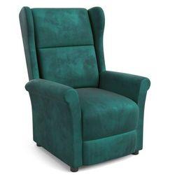 Fotel Agustin 2 Velvet rozkładany - 3 kolory Musztardowy