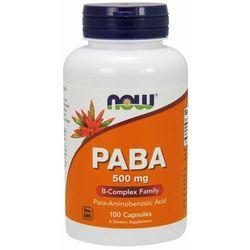 NOW Foods PABA 500 mg 100 kaps