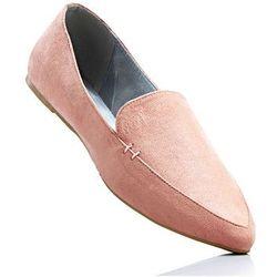 Buty wsuwane bonprix różowobrązowy