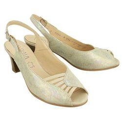 ALPINA 9J24-H ELDA beige/sabia, sandały damskie - Srebrny