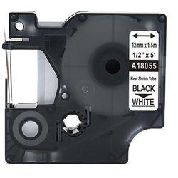 Rurka termokurczliwa DYMO Rhino 18055 12mm x 1.5m ø 3.0mm-5.1mm biała czarny nadruk S0718300 - zamiennik   OSZCZĘDZAJ DO 80% -