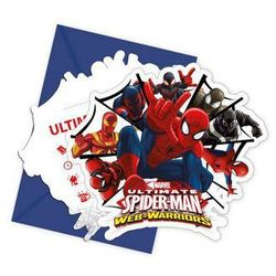 Zaproszenia Spiderman Ultimate, 6 sztuk. - GODAN OD 24,99zł DARMOWA DOSTAWA KIOSK RUCHU