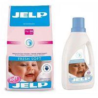 Płyny do płukania, JELP Proszek Fresh Soft 4kg + Płyn do płukania Delicate 1l