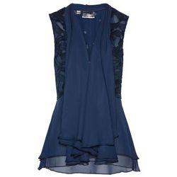 Kamizelka bluzkowa z koronką bonprix ciemnoniebieski