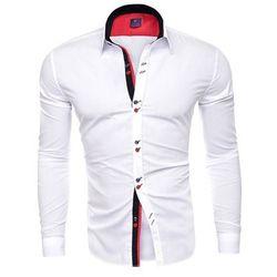 Koszula męska długi rękaw rl27 - biała