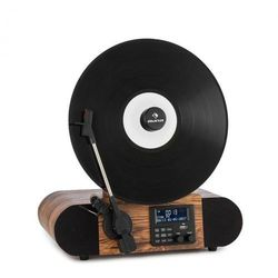 Auna Verticalo SE DAB, gramofon retro, DAB+, tuner UKF, USB, Bluetooth, AUX, drewno