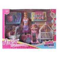 Lalki dla dzieci, Lalka 30 cm z dziećmi i akcesoriami