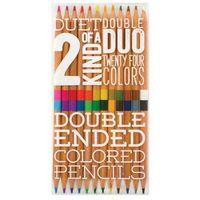 Kredki, Duet Kredki ołówkowe Jedna kredka dwa kolory 12 kredek