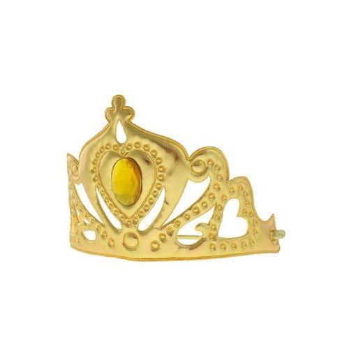 Pozostałe wyposażenie domu, Tiara diadem Śnieżna królowa złota - 1 szt.