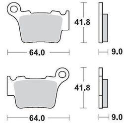 KLOCKI HAMULCOWE KH368 NITRO RACING METALICZNE: 22 KTM 200SX, 250SX, 450SX MOTO-MASTER M094422