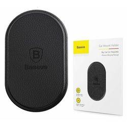 Baseus Big Ear   Uniwersalna blaszka adapter do uchwytu magnetycznego ze skóry ekologicznej   czarny