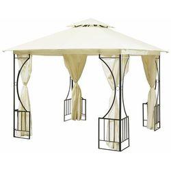 Pawilon ogrodowy, altana, namiot, ścianki boczne, 300x300cm, beżowy
