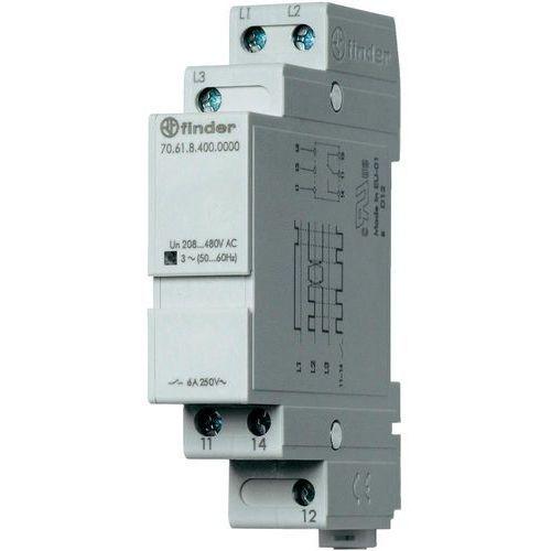 Przekaźniki, Przekaźnik kontroli napięcia, zaniku, rotacji i niskiej wartości faz 70.61.8.400.0000