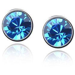 EXCLUSIVE Kolczyki okrągłe niebieskie - NIEBIESKIE