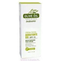 Nawilżający krem na dzień na bazie 100% oliwy z oliwek z filtrem słonecznym SPF 15 - 50ml
