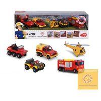 Pozostałe zabawki, Darmowa dostawa kurierem od 300 zł! Dickie Toys Strażak Sam Zestaw 5 metalowych pojazdów STREFADZIECIAKOW.PL