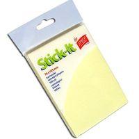 Karteczki, Karteczki samoprzylepne 76x105 mm żółte - EASY