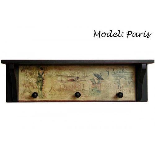 Wieszaki na ubrania, Wieszak ozdobny półka MDF Paris