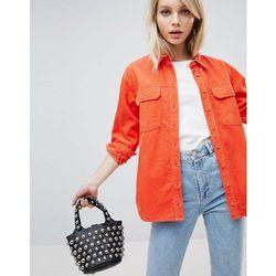 ASOS DESIGN cord shirt in orange - Orange