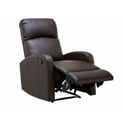 Fotel typu relaks ISAO ze skóry ekologicznej – Kolor czekoladowy