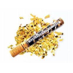 Tuba strzelająca - konfetti i serpentyny metaliczne złote - 40 cm - 1 szt.