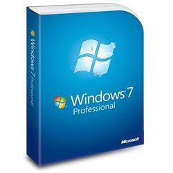 Windows 7 Professional, naklejka z kluczem (CoA) 32/64 bit