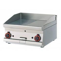 Płyta grillowa gazowa ryflowana chromowana   595x450mm   9000W   600x600x(H)280mm