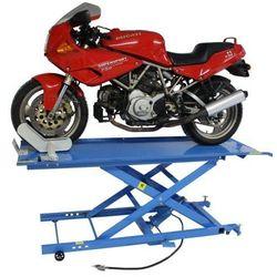 Podnośnik motocyklowy krzyżakowy hydrauliczno - pneumatyczny 450 kg - ML45KA