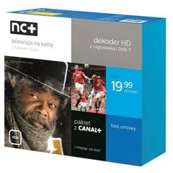 nc+ telewizja na kartę z pakietem Start+ (130 kanałów z Canal+, 1 m-c na start) - dekoder PACE PVR