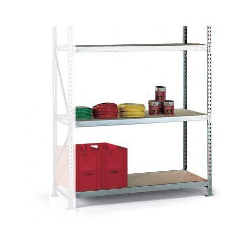 Regały warsztatowe, Regał półkowy, nośność 600 kg, 600 kg, 2500x1800x650 mm, dodatkowy