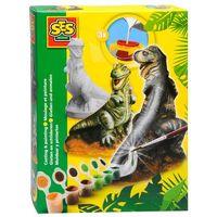 Kreatywne dla dzieci, SES Zestaw gipsowy T-rex